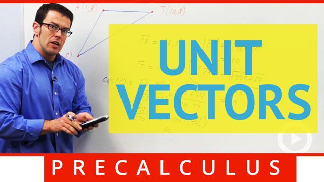 Unit Vectors - Concept