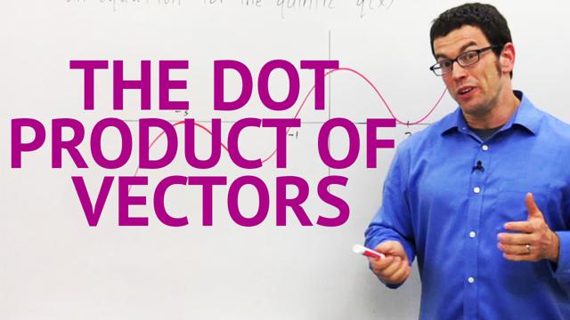 The Dot Product of Vectors - Concept