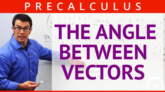The Angle Between Vectors - Concept