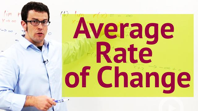 Average Rate of Change - Concept