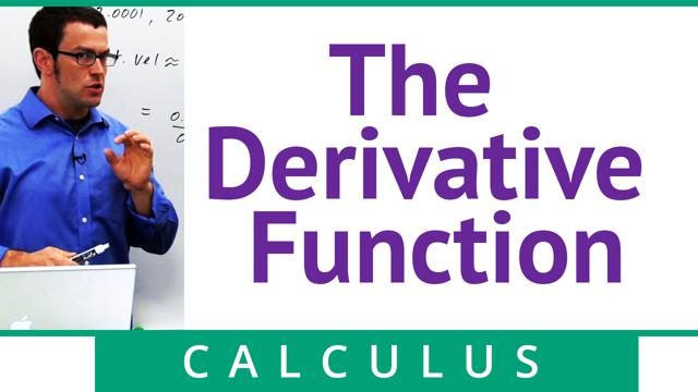 The Derivative Function - Concept