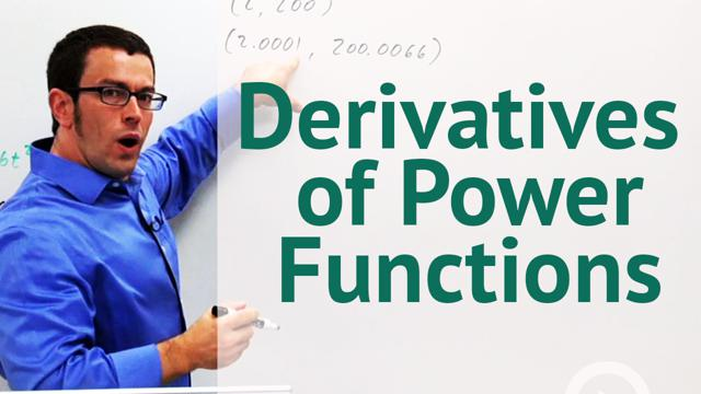 Derivatives of Power Functions - Concept