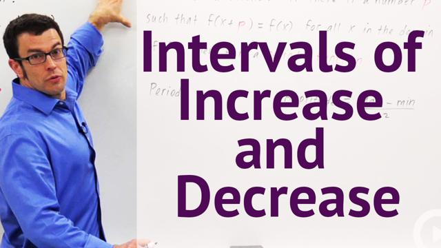 Intervals of Increase and Decrease - Concept
