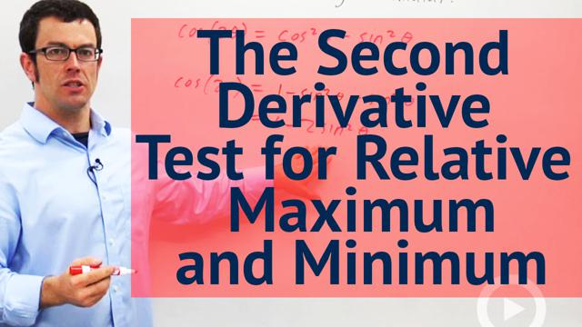 The Second Derivative Test for Relative Maximum and Minimum - Concept