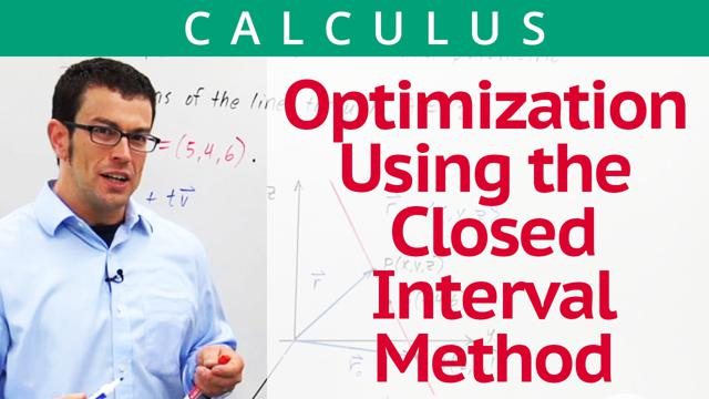 Optimization Using the Closed Interval Method - Concept
