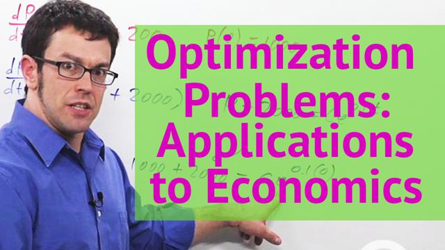 Optimization Problems: Applications to Economics - Concept