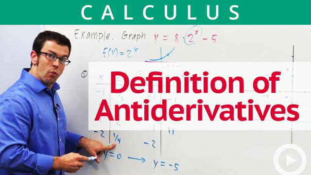 Antiderivatives and Differential Equations