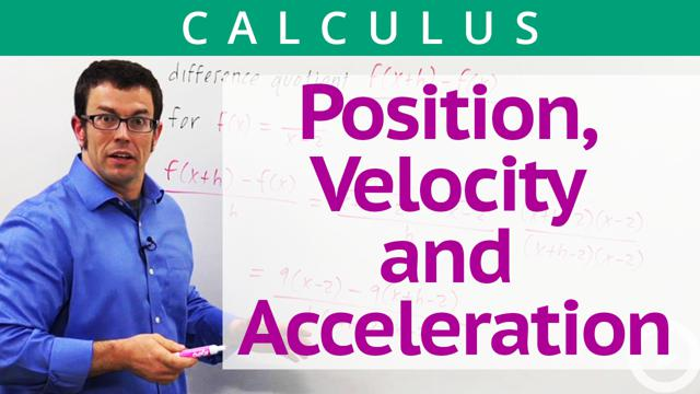 Position, Velocity and Acceleration - Concept