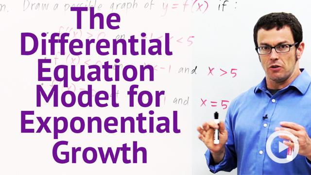 The Differential Equation Model for Exponential Growth - Concept