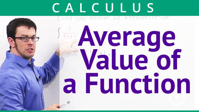 Average Value of a Function - Concept