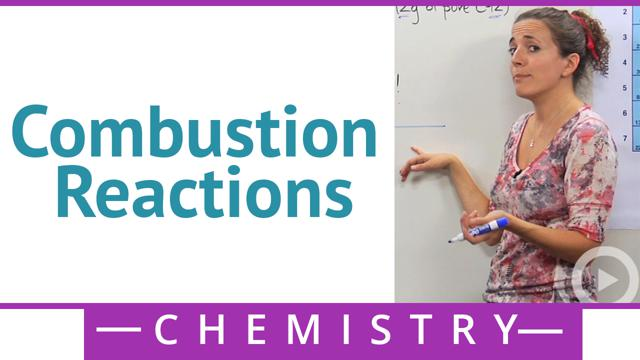 combustion reactions - concept